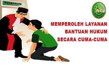 BEBAS BIAYA PERKARA BAGI MASYARAKAT TIDAK MAMPU!!